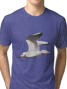 Flying seagull Tri-blend T-Shirt