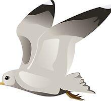 Flying seagull 2 by AnnArtshock
