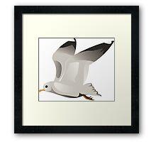 Flying seagull 2 Framed Print