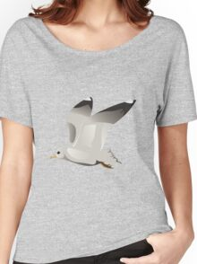 Flying seagull 2 Women's Relaxed Fit T-Shirt
