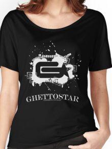 GHETTOSTAR 2 white Women's Relaxed Fit T-Shirt