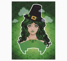 Leprechaun lady Kids Tee