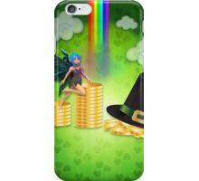 St Patrick's day background with coins and fairy iPhone Case/Skin