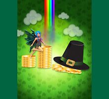 St Patrick's day background with coins and fairy Unisex T-Shirt