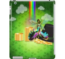 St Patrick's day background with coins and fairy 2 iPad Case/Skin