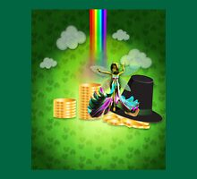 St Patrick's day background with coins and fairy 2 Unisex T-Shirt