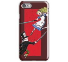 Alice vs. The Mad Hatter iPhone Case/Skin