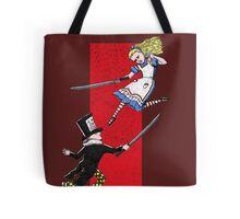 Alice vs. The Mad Hatter Tote Bag