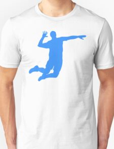 Blue Volleyball Serve T-Shirt