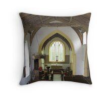 Tibenham Church Interior Throw Pillow