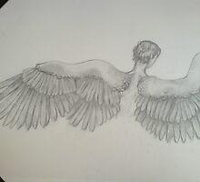 Male Angel Sketch by Dani Louise Sharlot