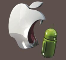 android eats apple Kids Clothes
