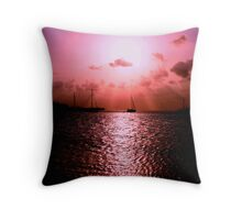 Sunset & sail Throw Pillow