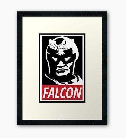 Captain Falcon: Obey Parody Framed Print