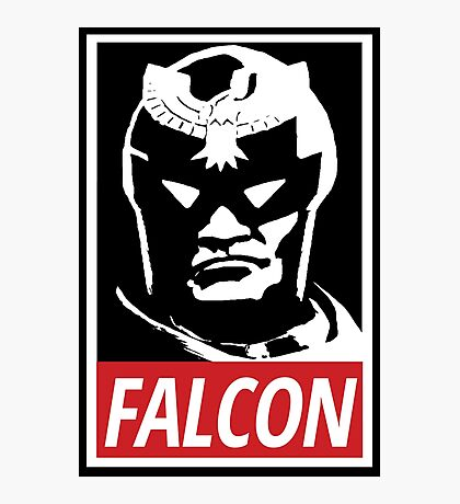 Captain Falcon: Obey Parody Photographic Print