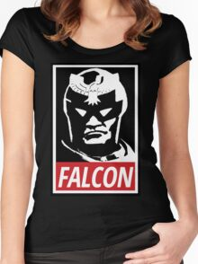 Captain Falcon: Obey Parody Women's Fitted Scoop T-Shirt