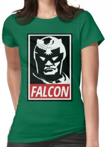Captain Falcon: Obey Parody Womens Fitted T-Shirt