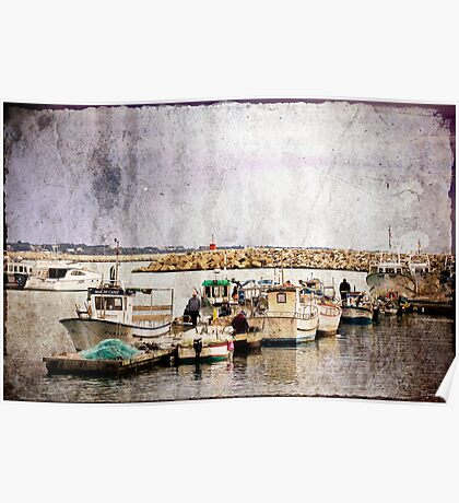 Fishing Ships (version 2) Poster