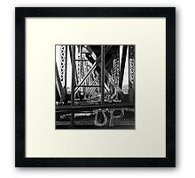 Steel Trestle Framed Print