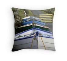 row-ing boats Throw Pillow