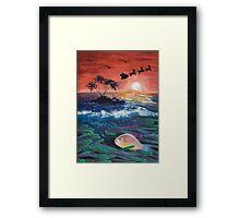 Clownfish Christmas Framed Print