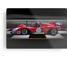 1974 Ferrari 312P V12 'Finish Line' Metal Print