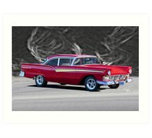 1957 Ford Fairlane 500 Hardtop Art Print