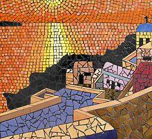 Santorini Sunset by Brett Campbell