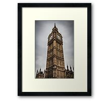 Big Ben on a Stormy London Afternoon Framed Print