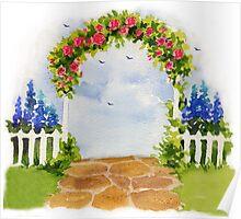 Painted Garden Poster