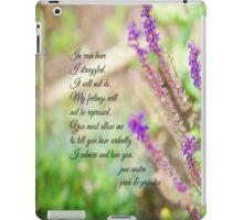 Mr Darcy Proposal Jane Austen iPad Case/Skin