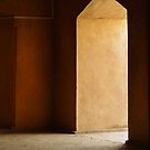 portal in gold and red, turpan by culturequest