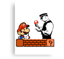 Super Mario In Trouble Canvas Print