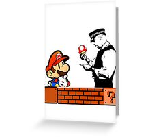 Super Mario In Trouble Greeting Card