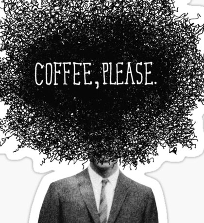 Coffee, Please Sticker