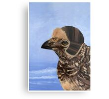 A Fashionable Hen Metal Print