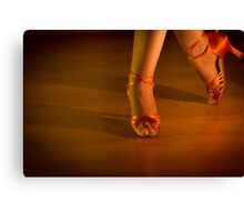 Latin woman dancing feet Canvas Print