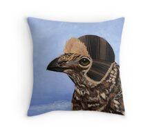 A Fashionable Hen Throw Pillow