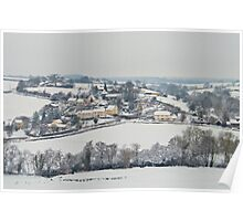 Winter at East Worlington  Poster