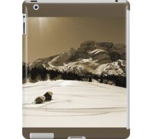 Little Snowy Hut by Mountains iPad Case/Skin