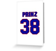 National baseball player Bret Prinz jersey 38 Greeting Card