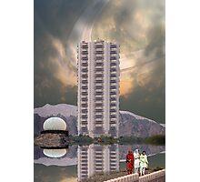 Luxury Pakistani Seven Star Hotel Serena on Titan, the moon of Saturn Photographic Print