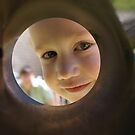 Caleb at the end of a pipe by Derek Kentwell