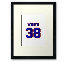 National baseball player Sammy White jersey 38 Framed Print