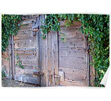 garage doors, Mendocino, CA Poster