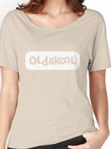 Oldskool logo - white Women's Relaxed Fit T-Shirt