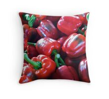 Pile O' Peppers Throw Pillow
