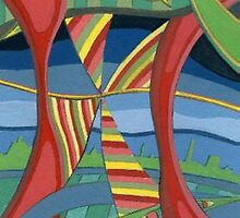 188 - THE CITY BEHIND THE DESIGN - DAVE EDWARDS - GOUACHE - 2007 by BLYTHART