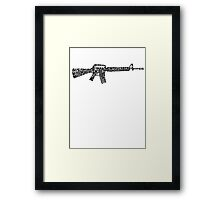 Riflemans Creed on M16 Framed Print