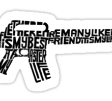 Riflemans Creed on M16 Sticker